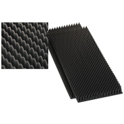 Speaker wedge moulded foam sheets, 40 mm, 100 x 50 cm