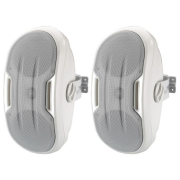 Pair of 2-way wall-mount design speaker systems, 60 W, 8 Ω