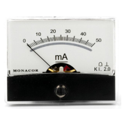 Moving coil panel meter, 50 mA