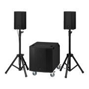 Compact professional active PA system, 1,200 W