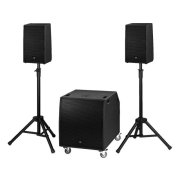 Compact professional active PA system, 2,300 W<sub></sub>