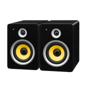 Pair of high-quality active speakers, 2 x 50 W