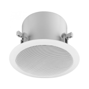 Active 2-way flush-mount ceiling speaker with integrated DANTE<sup>®</sup> module