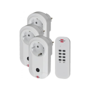 Remote-controlled switch sockets, set of 3