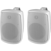 Pair of 2-way PA speaker systems, white
