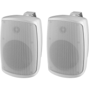 Pair of 2-way speaker systems, 40 W, 8 Ω, white