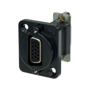 15-pole feed-through panel jack