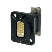 9-pole D-sub feed-through panel plug