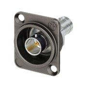 UHD BNC feed-through panel jack, 75 Ω, insulated