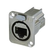 Cat. 6a feed-through panel jack