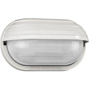LED outdoor light with twilight switch, white