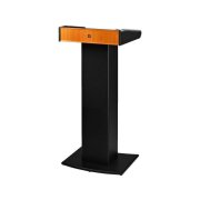 Professional lectern with integrated 2-channel multifrequency receiver unit with UHF PLL technology