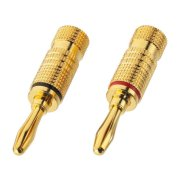 Pair of banana plugs for speakers, 4 mm