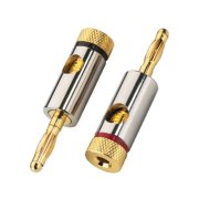 Pair of banana plugs for speakers, 4.5 mm