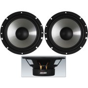 Pair of car hi-fi bass-midrange speakers, 35 W, 4 Ω