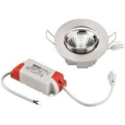 Flush-mounted LED spotlights, round and flat, 5 W